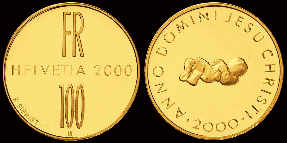 100 Fr Sonder Münze 2000 Jahre Christentum