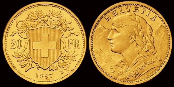 20 Franken-Goldvreneli 1897